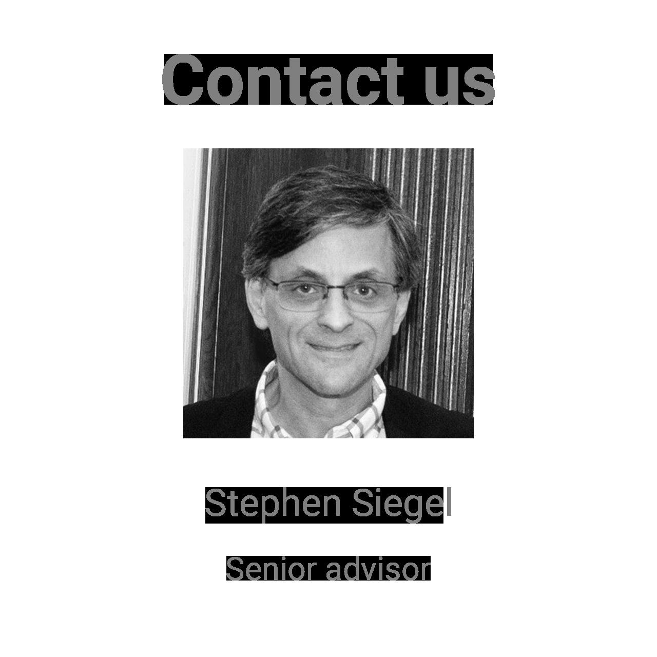 Stephen Siegel Contact us